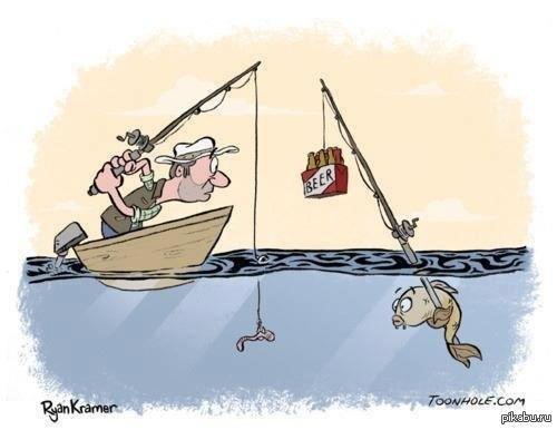 прикольные рисунки рыбака